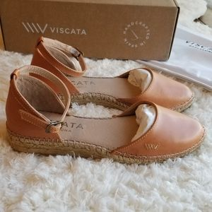 Viscata Conca Leather Espadrilles - Sahara Brown
